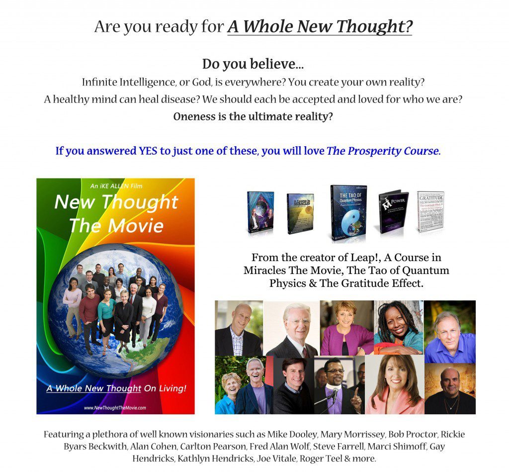 New Thought  Prosperity Course Banner